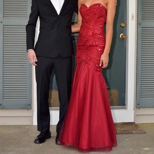 JOVANI RED PROM DRESS